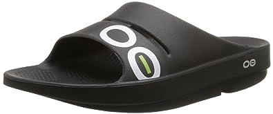 daa19e039a54 OOFOS - Unisex OOahh Sport - Post Run Recovery Slide Sandal - Black Black -