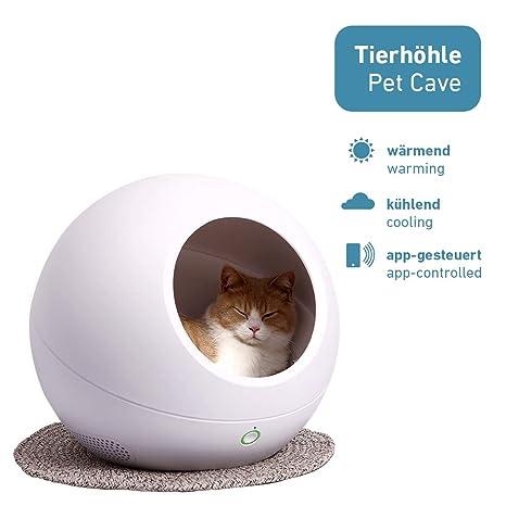 PetTec Cozy House, Cueva para Gato/Cueva para Perros, Calentador/Enfriador Mediante