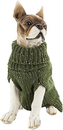 YiJee Animale Domestico Caldo Traspirante Maglieria Maglione Natale Abbigliamento per Cane Grigio XS