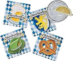 "Oktoberfest Coasters (12 Pack) 4""."