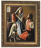 "David Lindsley Art Jesus, Mary and Martha Framed Print 11"" W x 13"" H"