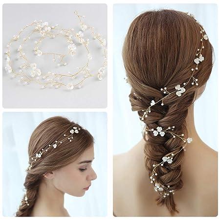 Hopewey Haardraht Hochzeit Haarband Haarschmuck Haardraht Perlen