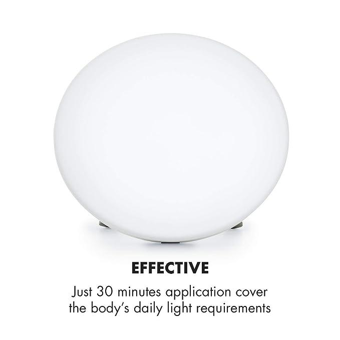 Klarstein Wintersun lámpara de luz Solar • Simulación de luz Solar • Luz Natural • 10.000 Lux • 6.500 K • Duración de la lámpara de 8000 h • Sin UV ...