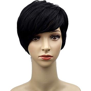 Amazon Com Naseily Short Black Wig Short Pixie Cut Wigs For Black