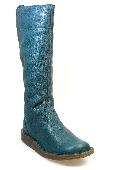 75097c73ad0 Dr. Martens Elena femmes genou Peacock cuir bleu Bottes haute ...