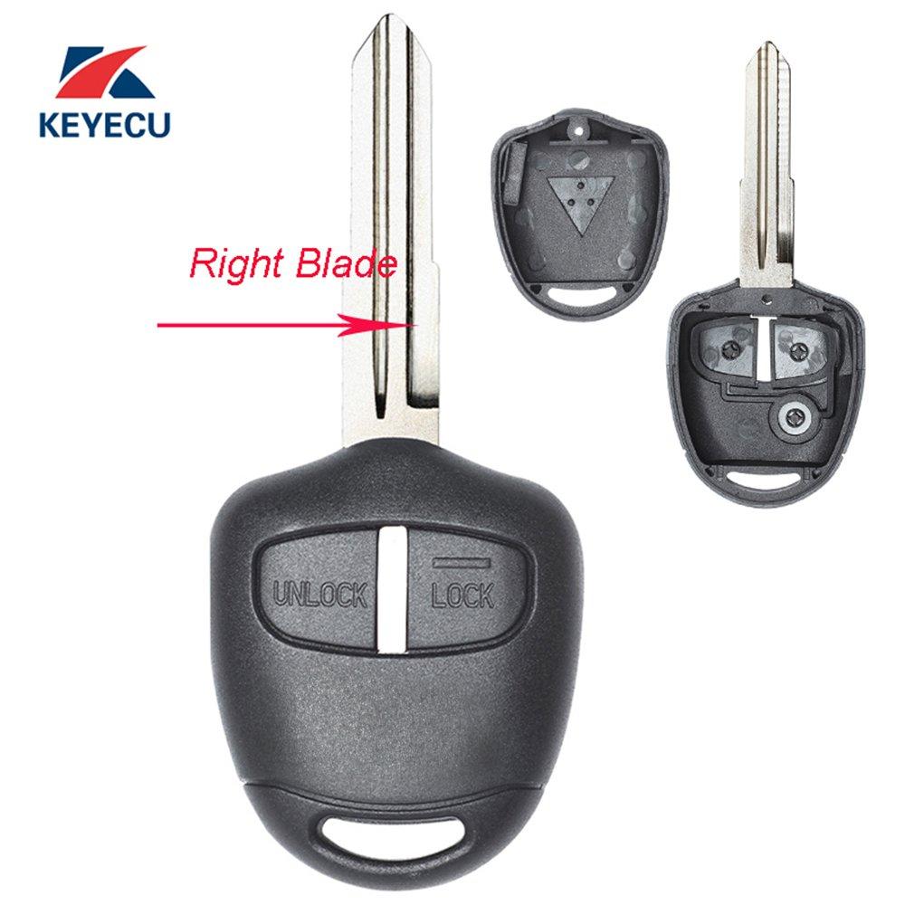 Replacement Housing Shell Remote Blank Key Case Fob 2 Button For MITSUBISHI Pajero Triton Lancer Evo Left Blade