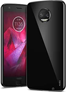 Aeska Moto Z2 Force Case, Ultra [Slim Thin] Flexible TPU Soft Skin Silicone Protective Case Cover for Motorola Moto Z2 Force Edition (Black)