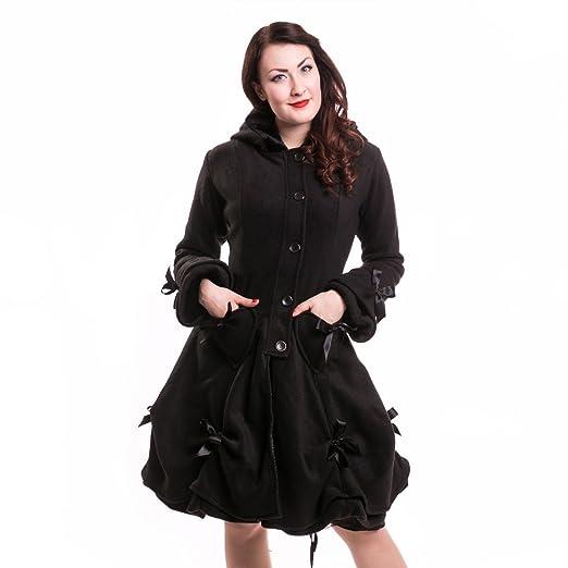La Industria Poizen diseño gótico Punk Traje de Neopreno para Mujer EMO de Pared para Abrigos Alice Negro el botón de Cierre de Cremallera en el Arco en ...
