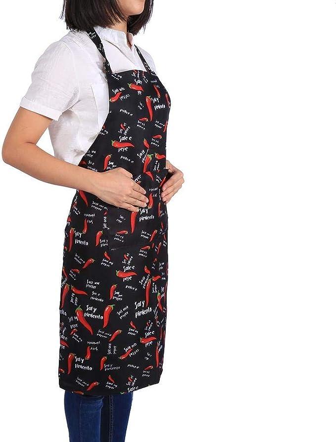Delantal de Cocina Unisex con Cuello Ajustable, 5 patrones, para ...