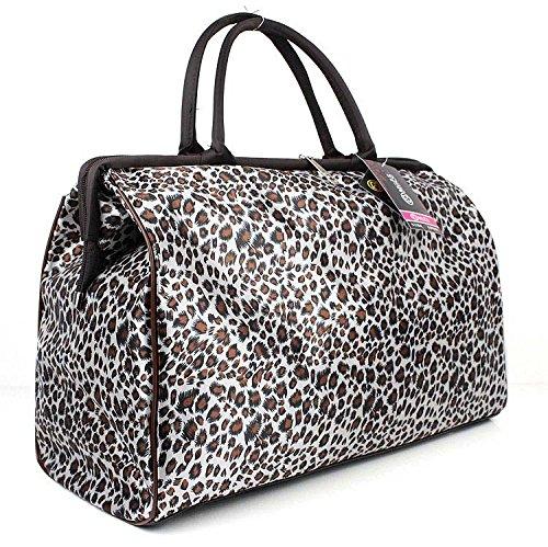 ILISHOP Fashion Women's Retro Vintage Style Travel Bag Shoulder Hobo Bag Purse Handbag Tote New (Leopard) Leopard Print Hobo Handbag