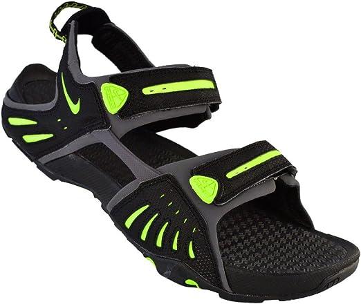 Amazon.com | Nike Sandals Mens Santiam 4 Black | Sport ...