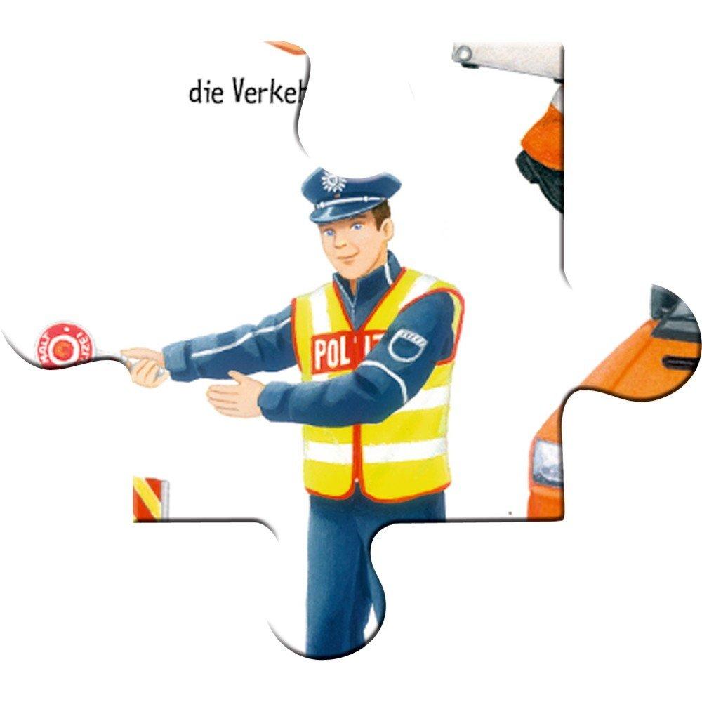 40 Teile Spiegelburg 13554 Rahmenpuzzle Polizei im Einsatz