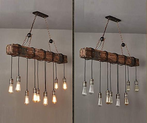 Plafoniere In Legno Fai Da Te : Vintage lampada a sospensione retro legna industria diy design