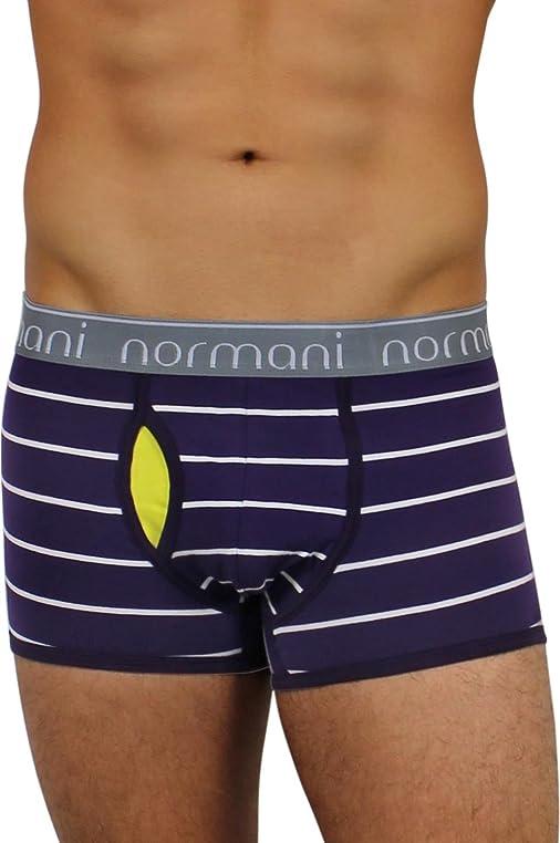 6 x Herren Unterwäsche Boxershorts normani® Boxer Shorts Farbe Purple  Stripes Größe S