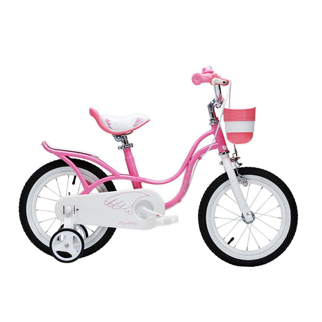 Bicicletas para niños de 2-8 años de edad, ciclismo para niños con una altura de 85-150cm ( Color : Pink , Size : 12 inches )