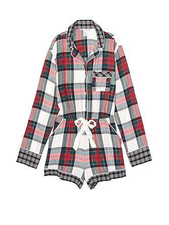 b9e6824eec Victoria s Secret Flannel Romper Pajamas at Amazon Women s Clothing ...