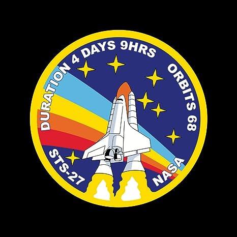NASA STS 27 Atlantis Mission Badge Distressed Women/'s T-Shirt
