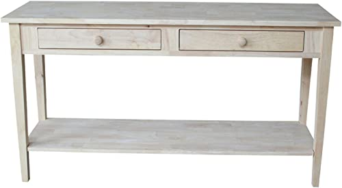 International Concepts Unfinished Spencer Extended Length Console/Server Table