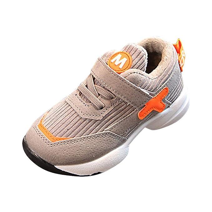 YanHoo Zapatos para niños Moda Chicas Chicos Deporte Calzado Zapatilla Zapatillas Casual Niños, niñas y niñas, versión Coreana de Las Zapatillas de Deporte ...