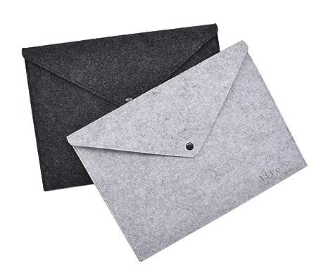 AiYoYo - 2 porta-documentos de fieltro de tamaño DIN A4, ligeros y fáciles