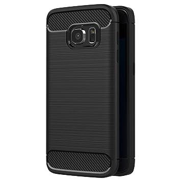 AICEK Funda Samsung Galaxy S7, Negro Silicona Fundas para Galaxy S7 Carcasa Samsung S7 Fibra de Carbono Funda Case