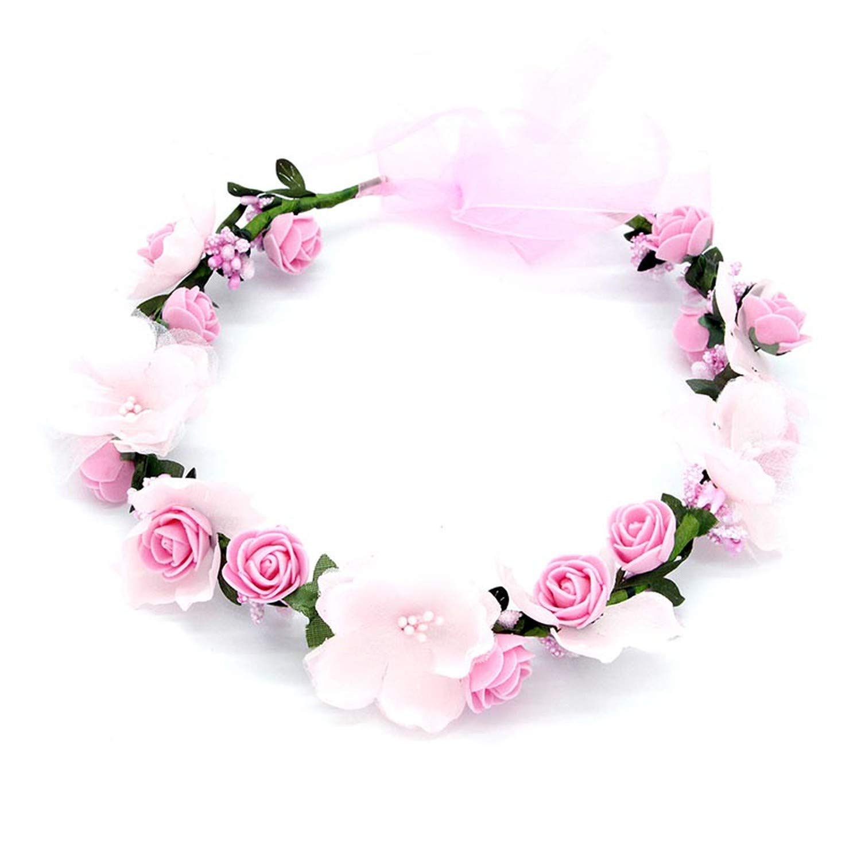 Flower Wedding Hair Accessories Girls Headband Flower Bridal Headpiece Wristband Artificial Flowers,A Wristband