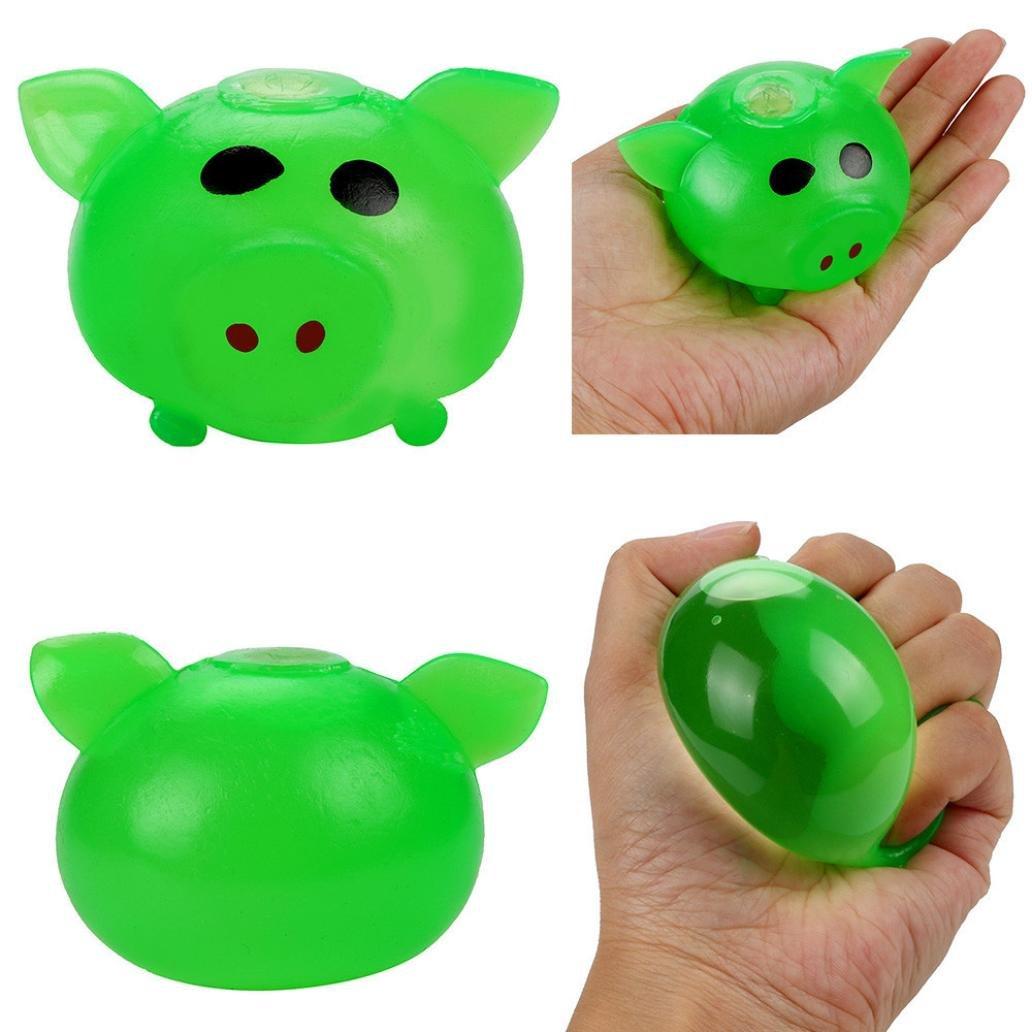 正規品販売! creazy1pc グリーン anti-stress Splat Toy Ball Vent Toy SmashさまざまなスタイルPigおもちゃDelightful グリーン Ball グリーン B0778BVCRP, フレームインテリアオカモト:90e89eb5 --- smartskills.ie