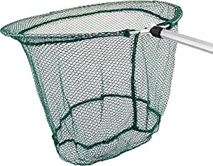 """Easy Storage Pond Skimming Fish Net - 14"""" Diameter With 22""""-38"""" Collapsible Telescopic Handle"""
