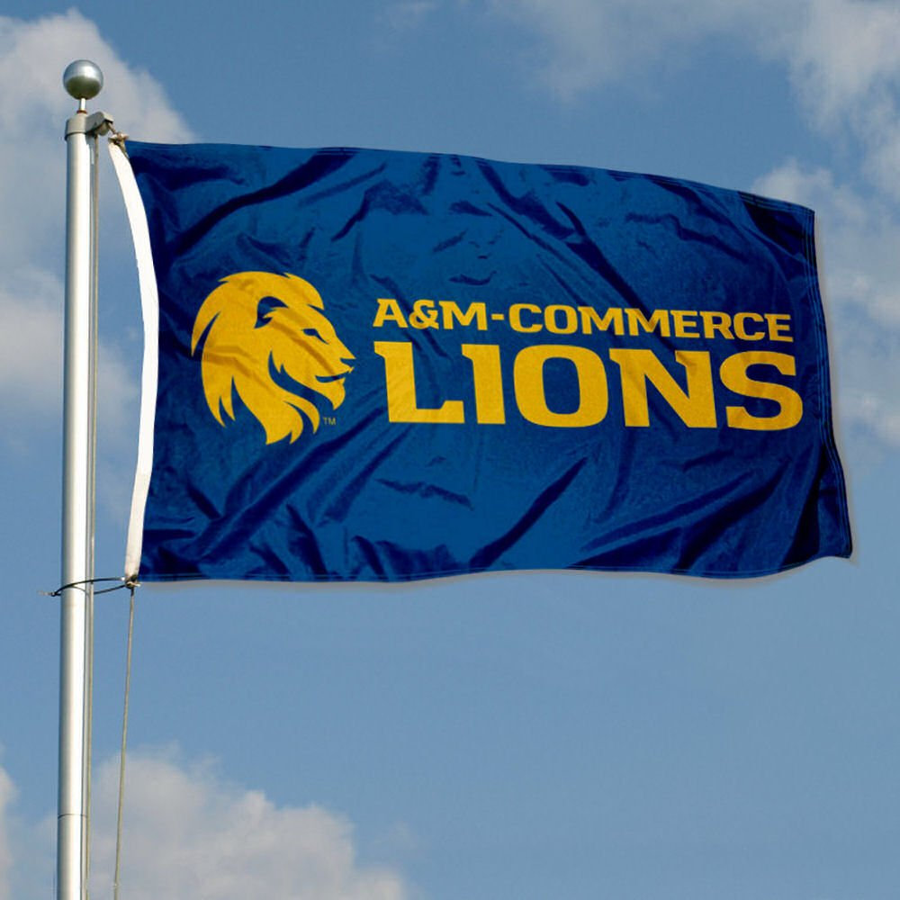 Texas A/&M Commerce Lions Wordmark Flag College Flags and Banners Co