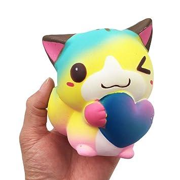 Juguete Lento Rising Toy Stress Revive Apretón-Linda Colorido Apretón de Gato-Juguetes Regalos para Niños: Amazon.es: Juguetes y juegos