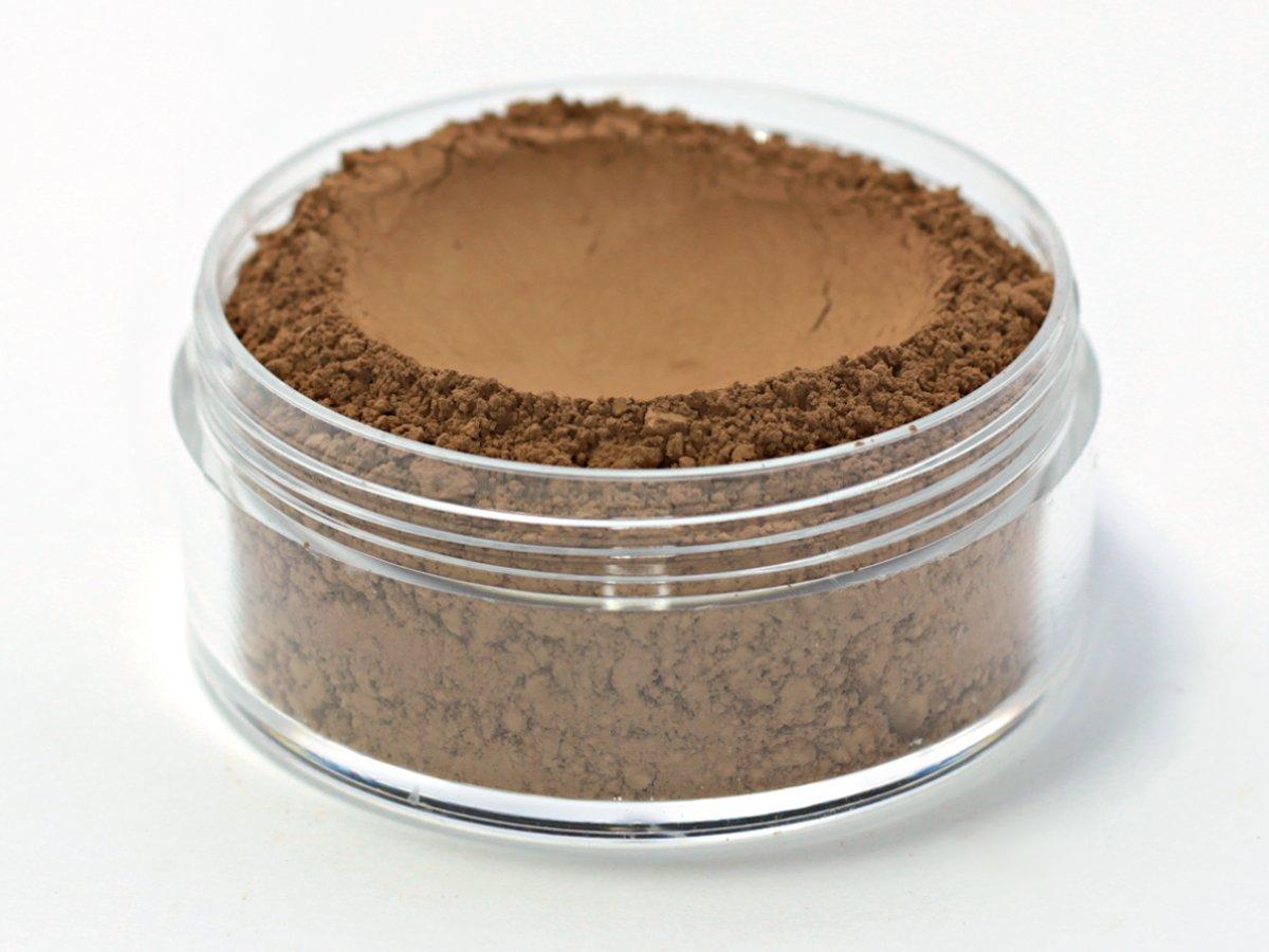 Vegan Mineral Wonder Powder Foundation - Shade ''Truffle'' very dark with neutral to warm undertone