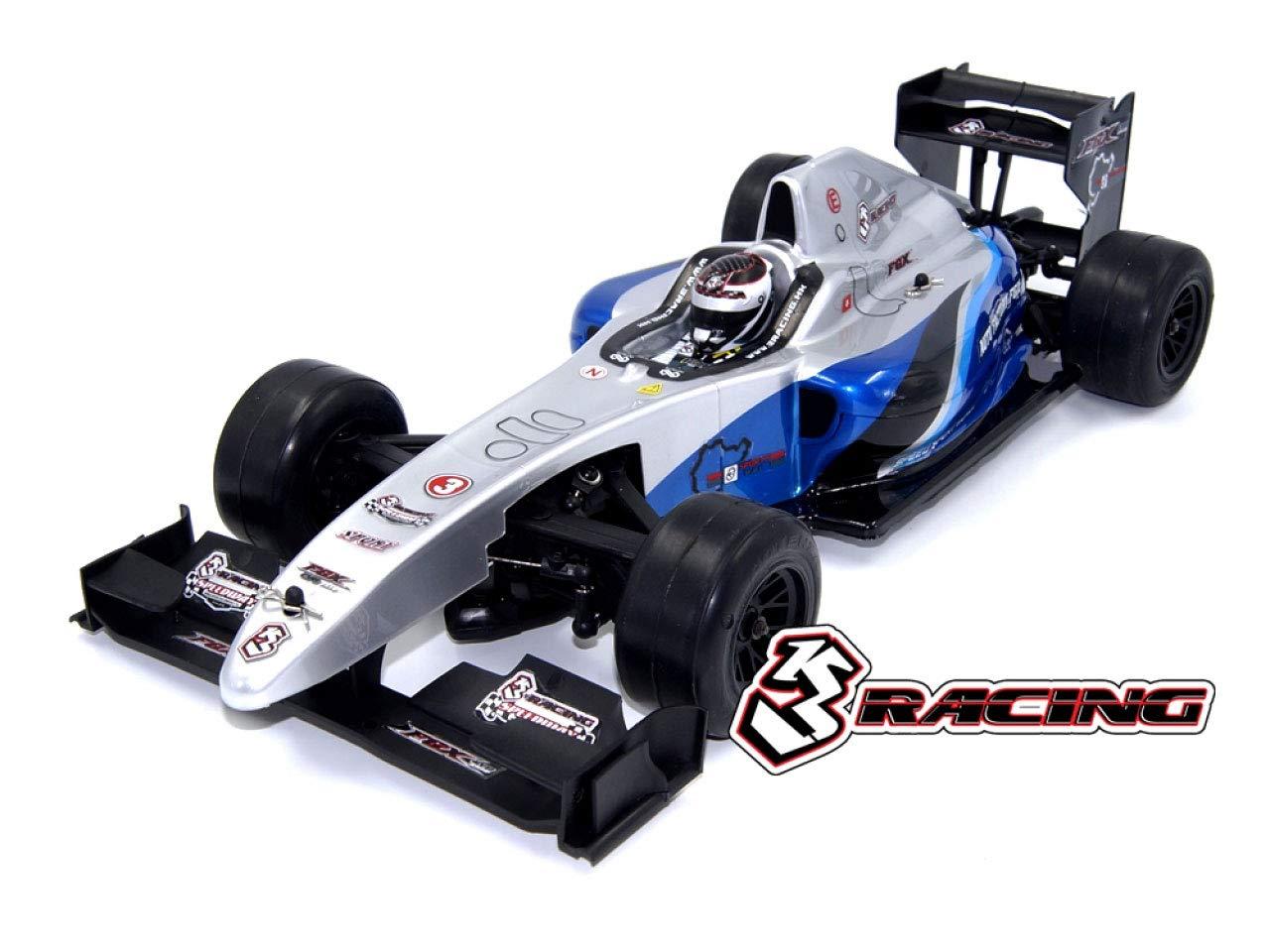3レーシング KIT-FGX-EVO2018/BU FGX-EVO20181/10 スケールフォーミュラーワンEPカーキット(ブルーボディ) (スリーレーシング) B07KCB23DY