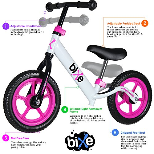 (4 LBS) Balance Bike for Kids and Toddlers ALUMINUM Light Weight No Pedals Push and Stride Walking Bicycle