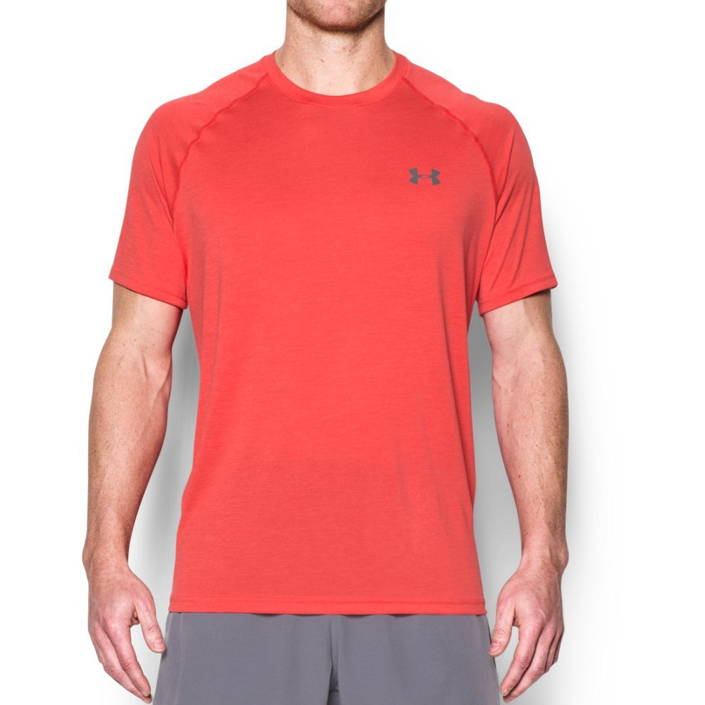 Under Armour Men's Tech Short Sleeve T-Shirt, Pomegranate /Graphite, Small by Under Armour (Image #1)