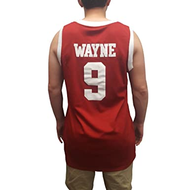 120b0132096b Dwayne Wayne  9 Hillman College Red Basketball Jersey A Different World  Costume