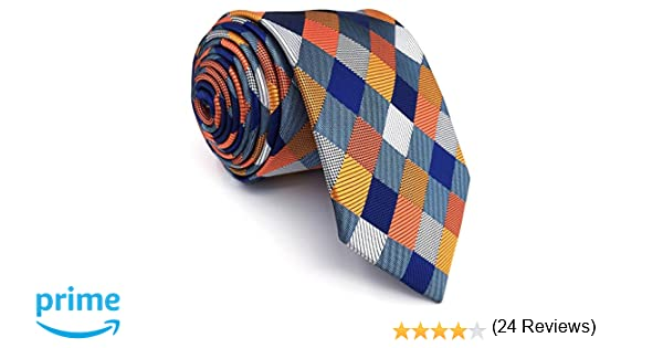 shlax&wing La Moda único Hombre Seda Corbatas Para Multicolor a ...