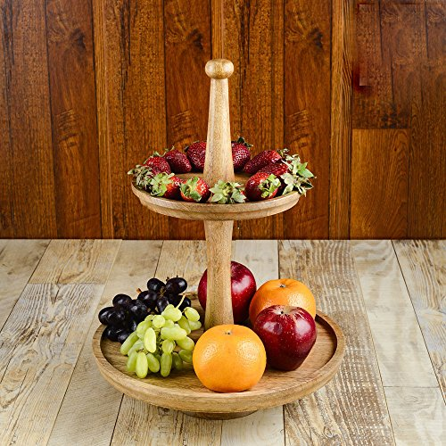 Tall Wood Tray Stand - 4