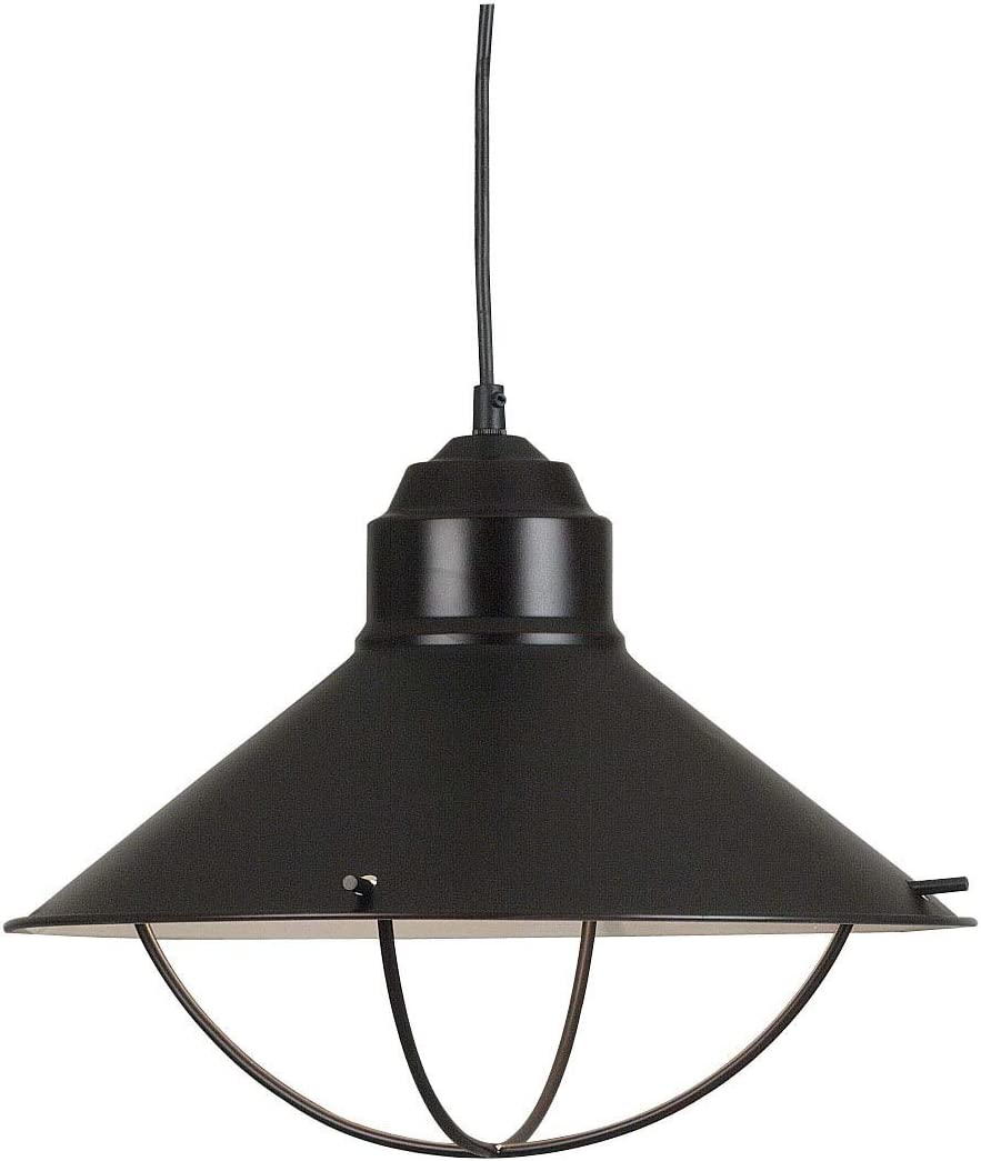 Kenroy Home 66349ORB Harbour 1-Light Pendant, Blackened Oil Rubbed Bronze