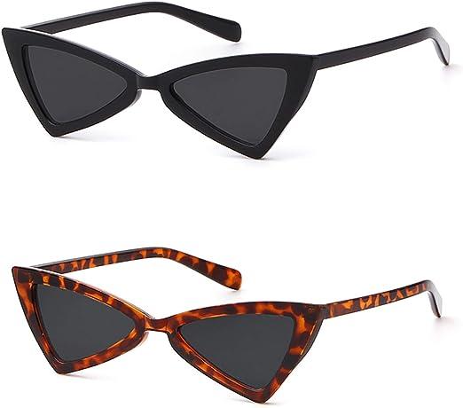 Classic Womens Cat Eye Glasses Sunglasses Triangle Plastic Frame Eyewear UV400