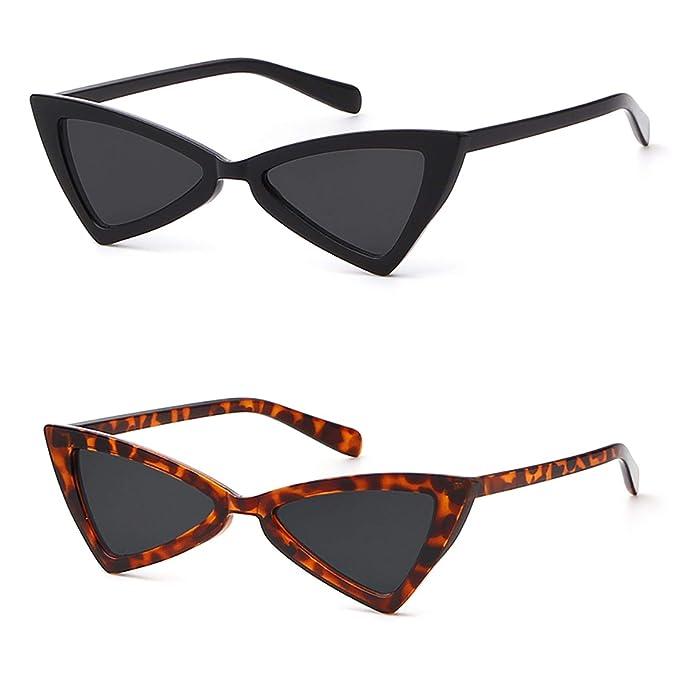 Cat eye Sunglasses for Women Men High Pointed Triangle Glasses