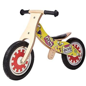 Bicicleta sin pedales Bici Bicicleta de Equilibrio de Madera - Bicicleta de Entrenamiento sin Pedales para