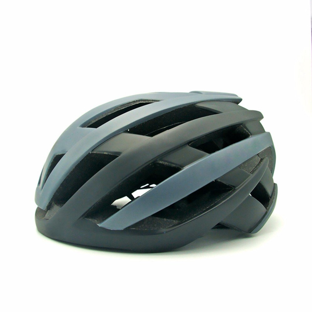LOLIVEVE Casco Bici Bici da Strada Mountain Bike Casco di Sicurezza Sportivo Portatile Outdoor Ride Ventilazione Regolabile S (51-54Cm) M (55-58Cm) Grigio M