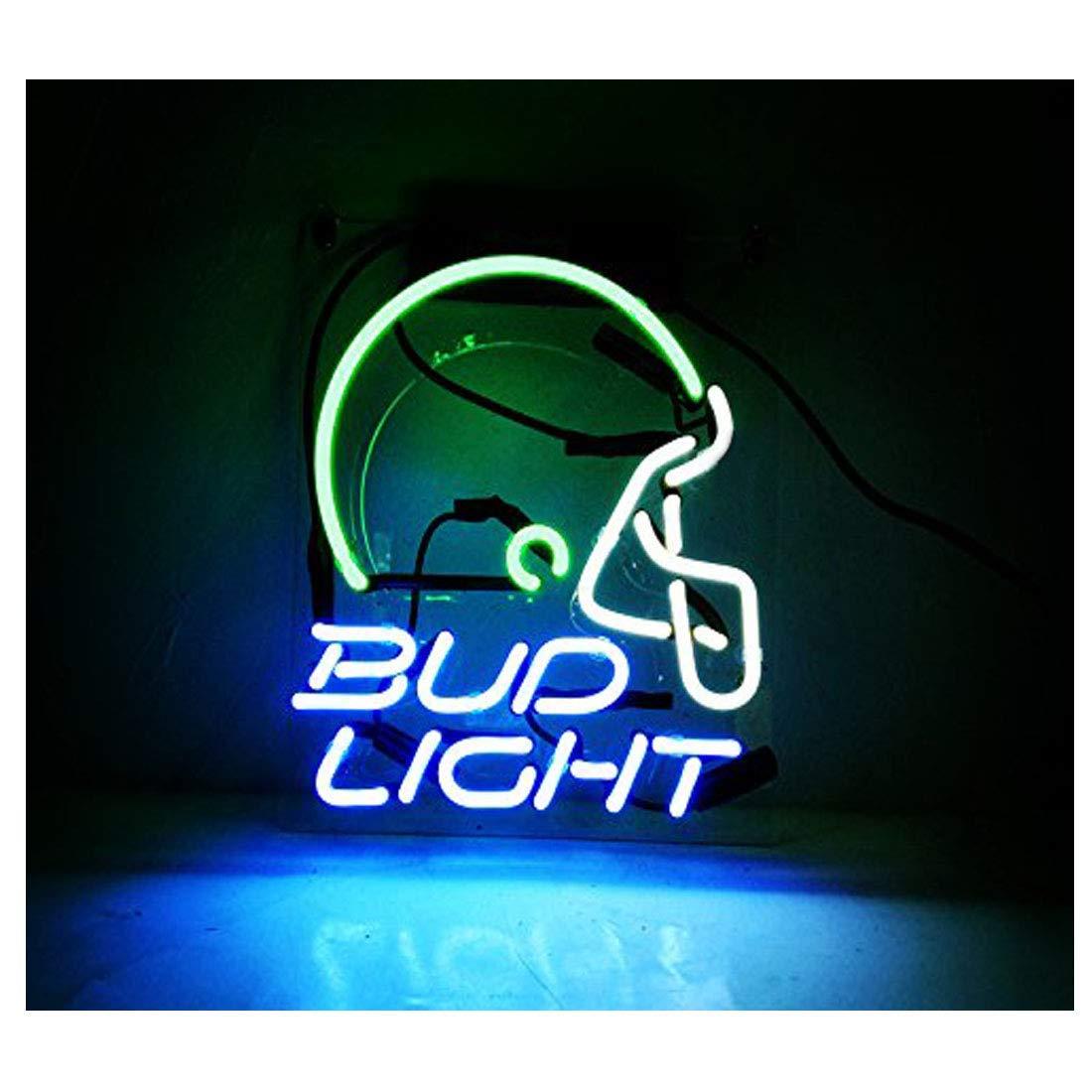 Budヘルメットライト装飾ネオンライトLEDネオンのレクリエーションゲームルームWindowsライトガレージ壁Signs 10