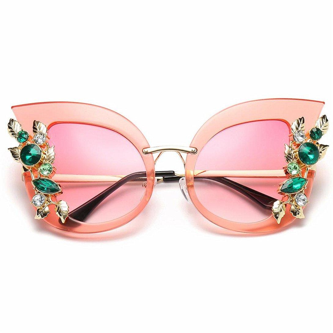Kword Occhiali Da Sole Da Donna Vintage 2018 Fashion Occhiali Da Sole Gradient Barocco,Donne Artificiali Diamond Cat Ear Metal Frame Marchio Classico Occhiali Da Sole
