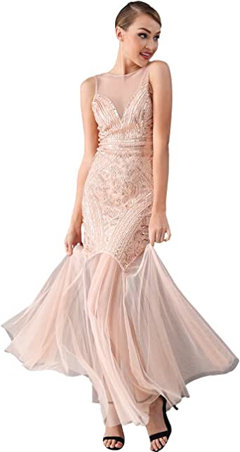 Miss Water Sequin-Dress-Backless Bridesmaid Wedding