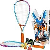 Speedminton Fun Set incl. an easy to setup Court - Alternative to Beach Ball, Spike Ball, Badminton, incl. 1 Heli and…