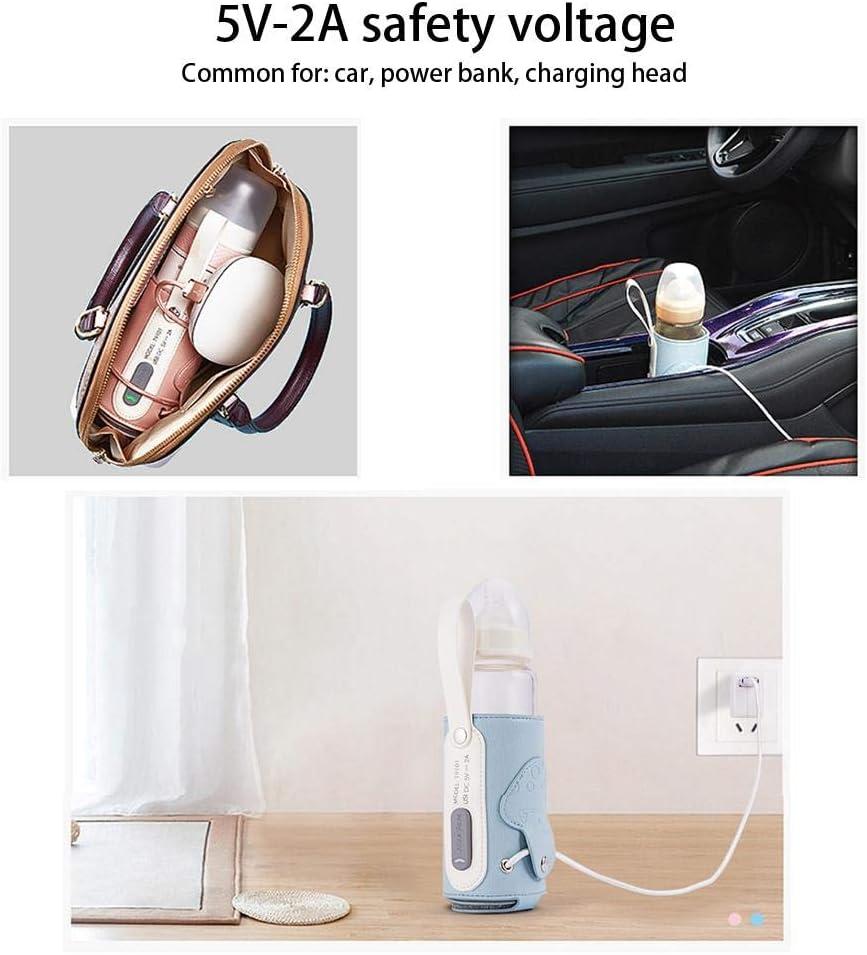 Sac pour Biberon Sac pour Biberon Thermo Feeding Warmer Bag USB Sac Isotherme pour Biberon pour Les Voyages circulor Chauffe Biberon De Voyage USB