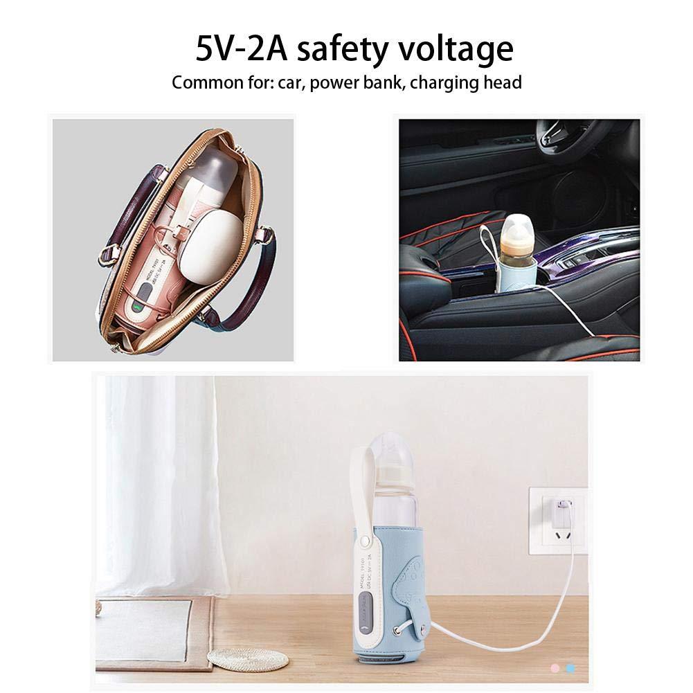 12cm x 27cm Tragbar USB Thermotasche Baby Flaschenw/ärmer Tasche Universal Elektrische Intelligente Temperaturregelung Isoliertasche F/ür Babyflaschen F/ür Outdoor Reisen