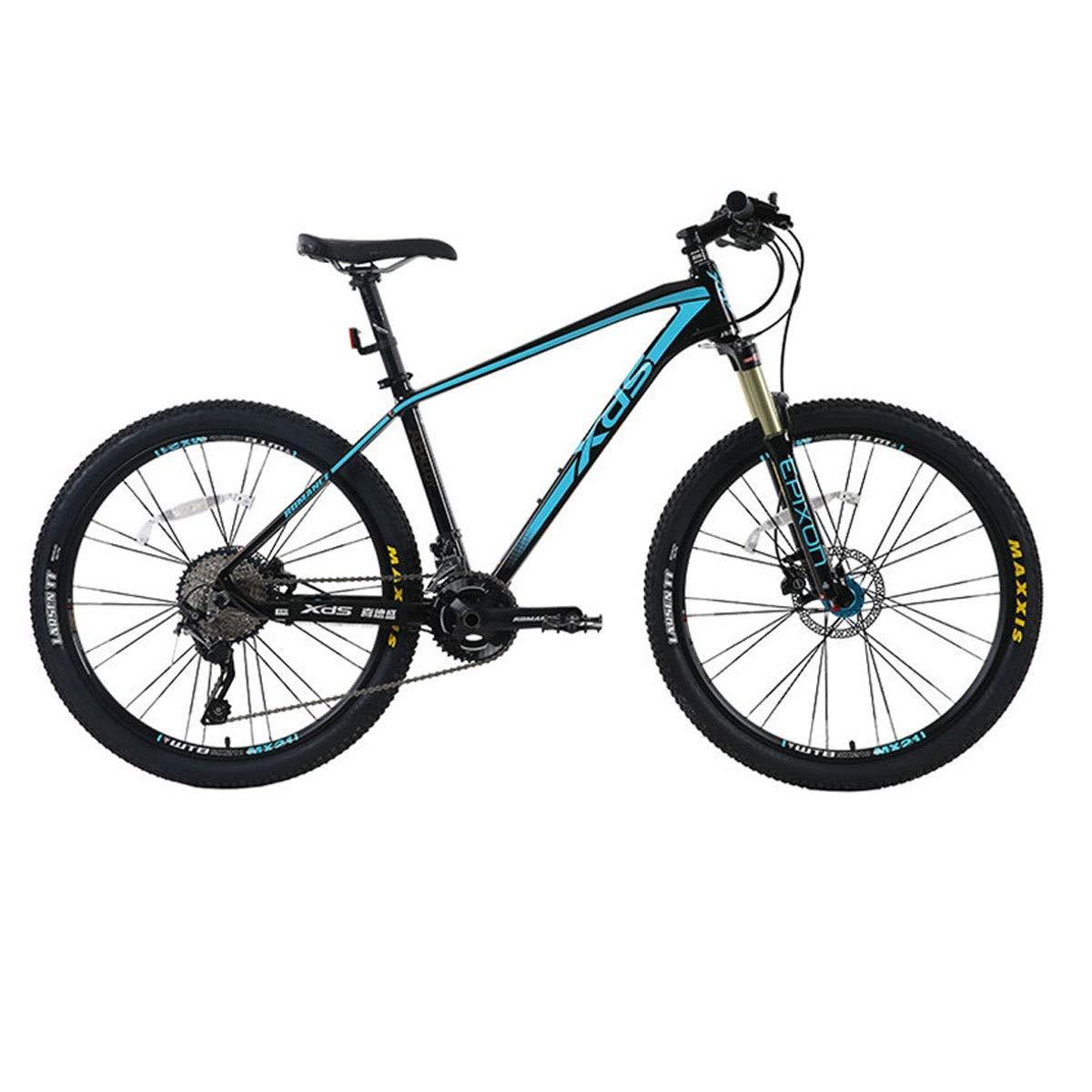 盛石水中 自転車、マウンテンバイク、オフロード競技用自転車、アルミ22スピード26インチ、家族またはプロの競技 最新のスタイル、シンプルなデザイン 黒 青 22 speed
