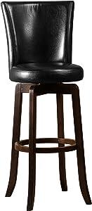 Hillsdale Furniture Copenhagen Swivel Bar Stool, Espresso